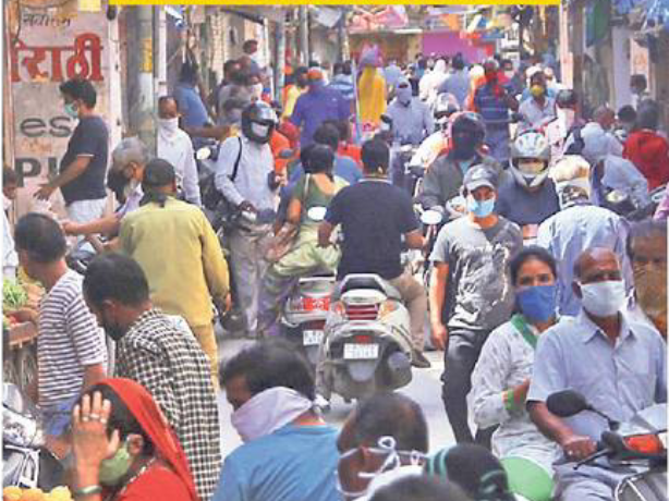Udaipur Market with no Social Distancing
