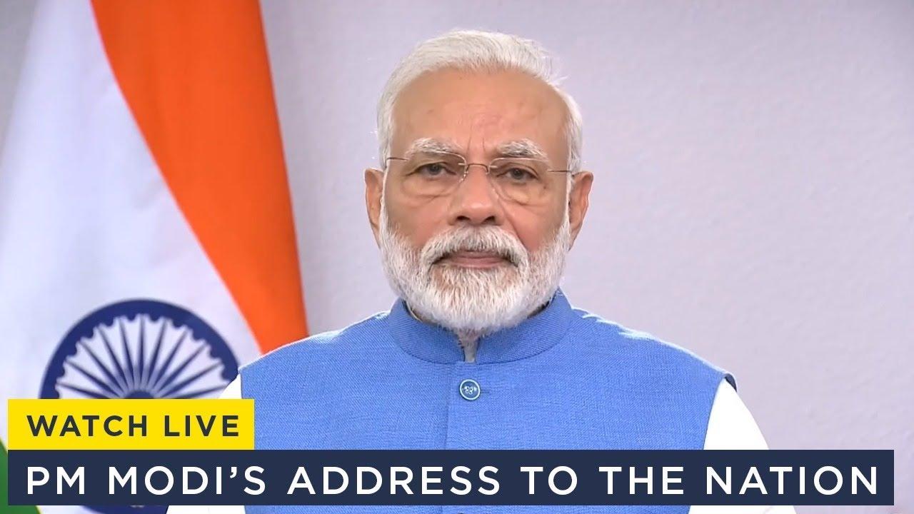 PM Modi addressing live streaming
