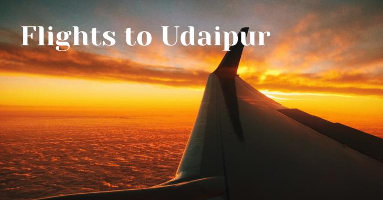 flights to udaipur